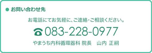 お問い合わせ先:083-228-0977